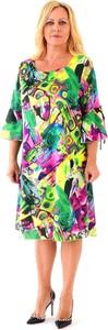 Sukienka Roxana - sukienki z satyny z długim rękawem