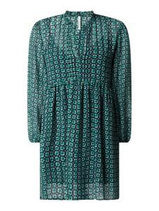 Zielona sukienka Pepe Jeans mini z szyfonu z dekoltem w kształcie litery v