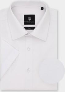 Koszula Pako Lorente z krótkim rękawem z klasycznym kołnierzykiem z tkaniny