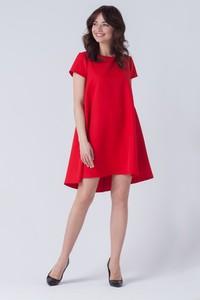 Sukienka butik-choice.pl z okrągłym dekoltem asymetryczna mini