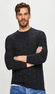 Czarny sweter Hugo Boss z bawełny