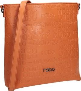 Brązowa torebka NOBO w wakacyjnym stylu matowa na ramię