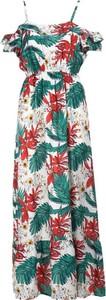 Sukienka Multu w stylu boho maxi z dekoltem w kształcie litery v
