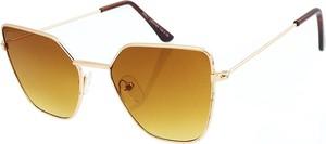 Złote okulary damskie Revers