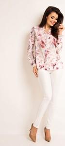 Różowa koszula Awama z długim rękawem