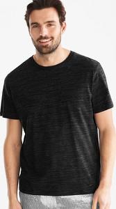 Czarny t-shirt ANGELO LITRICO z krótkim rękawem w stylu casual z bawełny