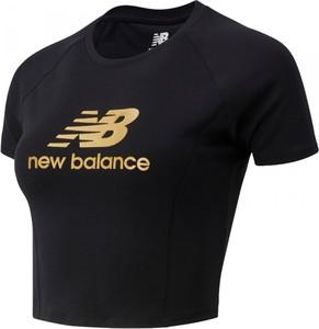 Bluzka New Balance z krótkim rękawem z bawełny