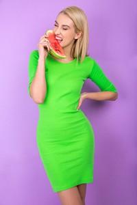 Zielona sukienka Zoio z bawełny