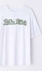 T-shirt Cropp w młodzieżowym stylu z okrągłym dekoltem