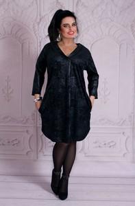 Czarna tunika Oscar Fashion z długim rękawem
