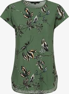 Zielony t-shirt Vero Moda z krótkim rękawem
