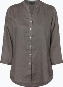 Brązowa bluzka Franco Callegari z długim rękawem w stylu casual bez kołnierzyka