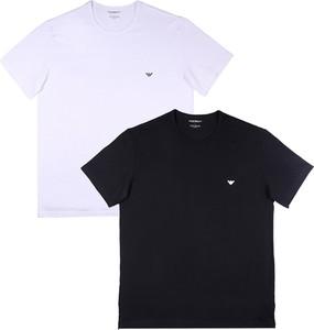 T-shirt Emporio Armani z bawełny z krótkim rękawem