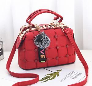 Czerwona torebka Savani średnia