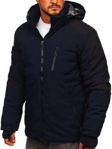 Granatowa kurtka Denley w stylu casual krótka