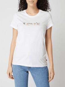 T-shirt Levis z krótkim rękawem z okrągłym dekoltem w młodzieżowym stylu
