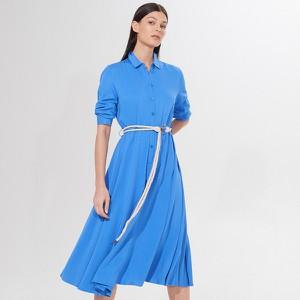 Niebieska sukienka Mohito w stylu casual maxi szmizjerka
