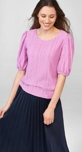 Różowa bluzka ORSAY z okrągłym dekoltem