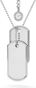 GIORRE KOMPLET NIEŚMIERTELNIK Z WŁASNYM GRAWEREM I ŁAŃCUSZKIEM : Długość (cm) - 60 + 5, Kolor pokrycia srebra - Pokrycie Różowym 18K Złotem
