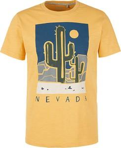 Żółty t-shirt S.Oliver z krótkim rękawem
