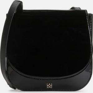 Czarna torebka Kazar lakierowana ze skóry w stylu glamour