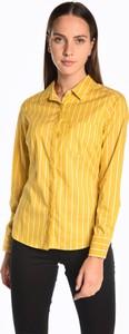 Żółta koszula Gate z bawełny
