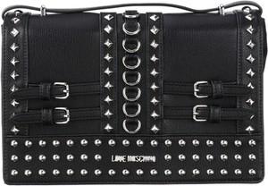 Czarna torebka Love Moschino mała w stylu glamour