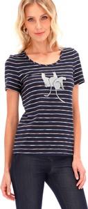 T-shirt POTIS & VERSO z krótkim rękawem z dzianiny