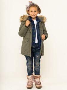 Zielona kurtka dziecięca Pepe Jeans dla dziewczynek