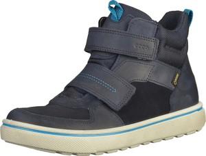 Buty dziecięce zimowe Ecco na rzepy ze skóry