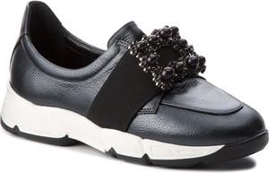Czarne buty sportowe Baldowski z płaską podeszwą