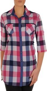f88e73affb4517 koszula w różową kratkę - stylowo i modnie z Allani