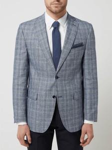 Niebieski garnitur Carl Gross z wełny