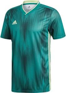 Zielony t-shirt Adidas z krótkim rękawem