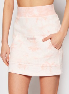 Różowa spódnica Guess mini w stylu casual