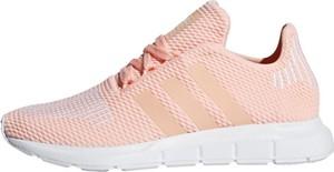 Różowe trampki dziecięce Adidas Originals sznurowane