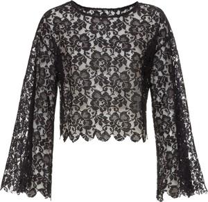 Czarna bluzka bonprix BODYFLIRT boutique z długim rękawem