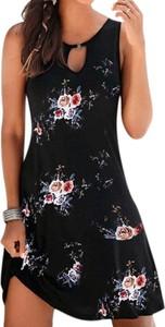 Czarna sukienka Arilook mini z okrągłym dekoltem