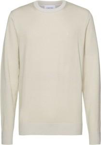 Sweter Calvin Klein z okrągłym dekoltem z tkaniny w stylu casual