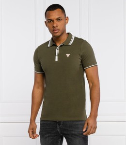 Zielona koszulka polo Guess w stylu casual