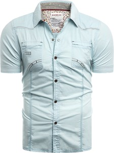 Niebieska koszula Risardi w stylu casual z klasycznym kołnierzykiem