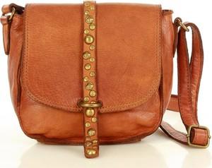 Brązowa torebka Marco Mazzini Handmade średnia na ramię matowa