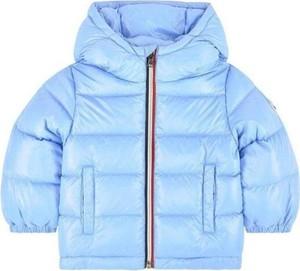 Niebieska kurtka dziecięca Moncler dla dziewczynek