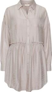 Sukienka Cream mini koszulowa w stylu casual