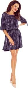 Sukienka Bergamo z długim rękawem z okrągłym dekoltem mini
