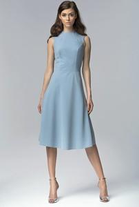 Błękitna sukienka Nife midi