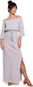 Sukienka Be z bawełny z długim rękawem maxi
