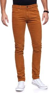 Pomarańczowe spodnie Lee