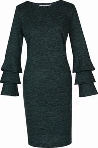 Sukienka Fokus w stylu klasycznym ołówkowa z okrągłym dekoltem