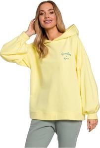 Żółta bluza MOE w młodzieżowym stylu
